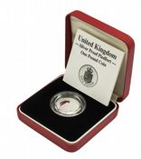 1988 Silver Proof Piedfort One Pound